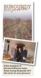Burgundy 2010, Burgundy En Primeur