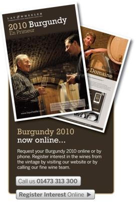 Burgundy 2010 En Primeur from Lay & Wheeler