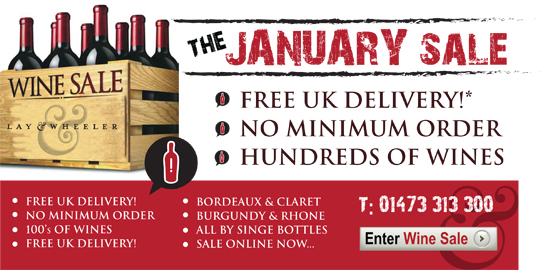 Lay & Wheeler January Wine Sale