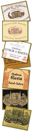 2011 Château Margaux, 2011 Pavillon Rouge, 2011 Château Lynch-Bages, 2011 Château d'Issan, 2011 Château Gloria, 2011 Château Palmer, 2011 Alter Ego de Château Palmer