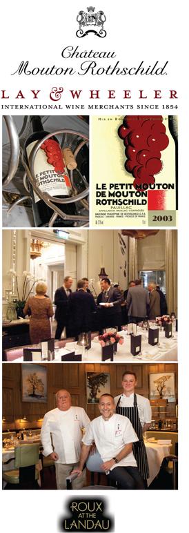 Lay & Wheeler Michel Roux Jnr Wine Tasting